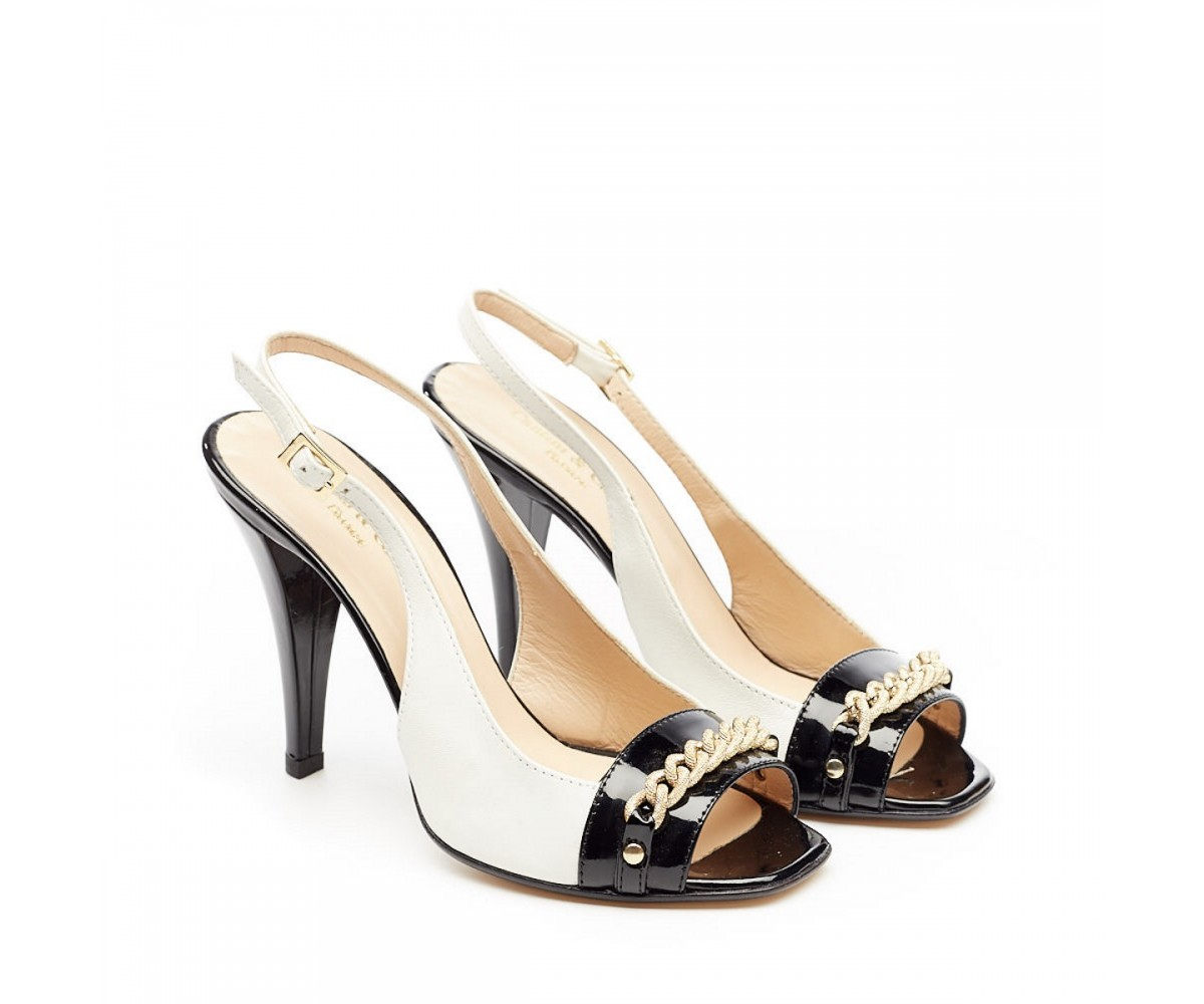Босоножки женские на каблуке с декором Cantini & Cantini