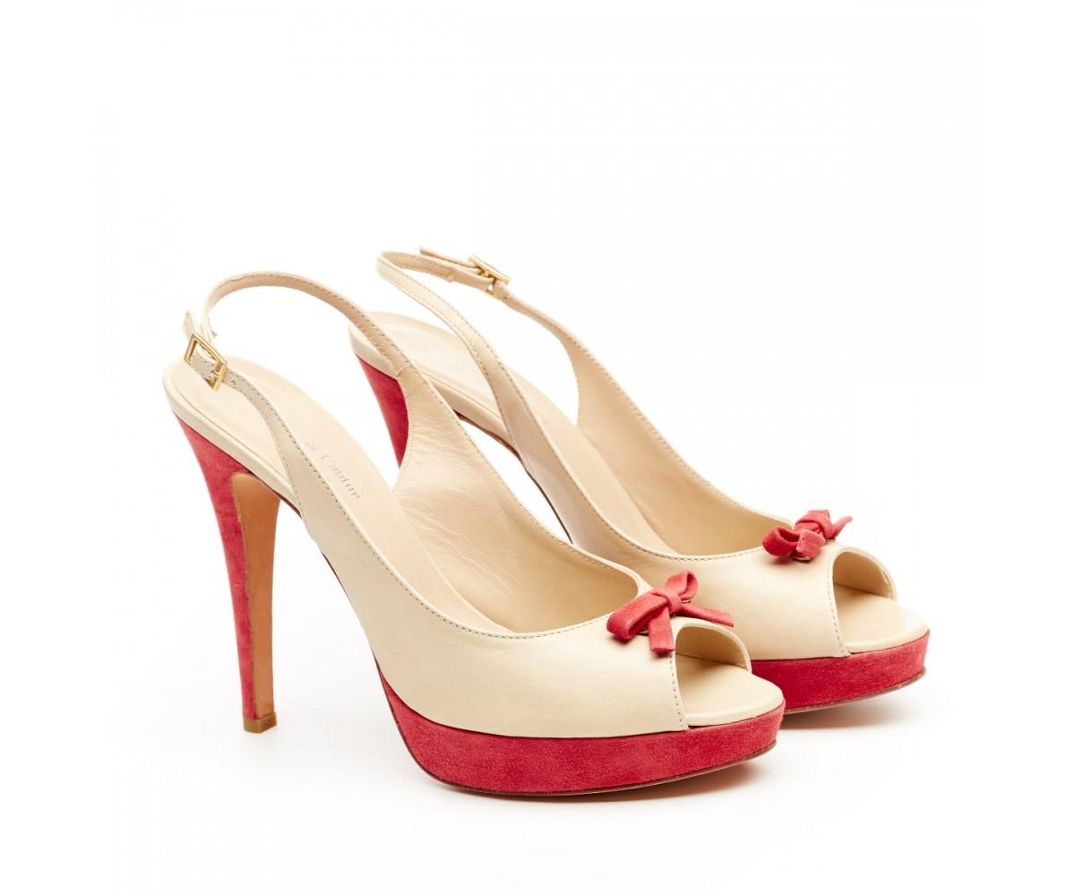 Босоножки женские кожаные на каблуке Cantini & Cantini