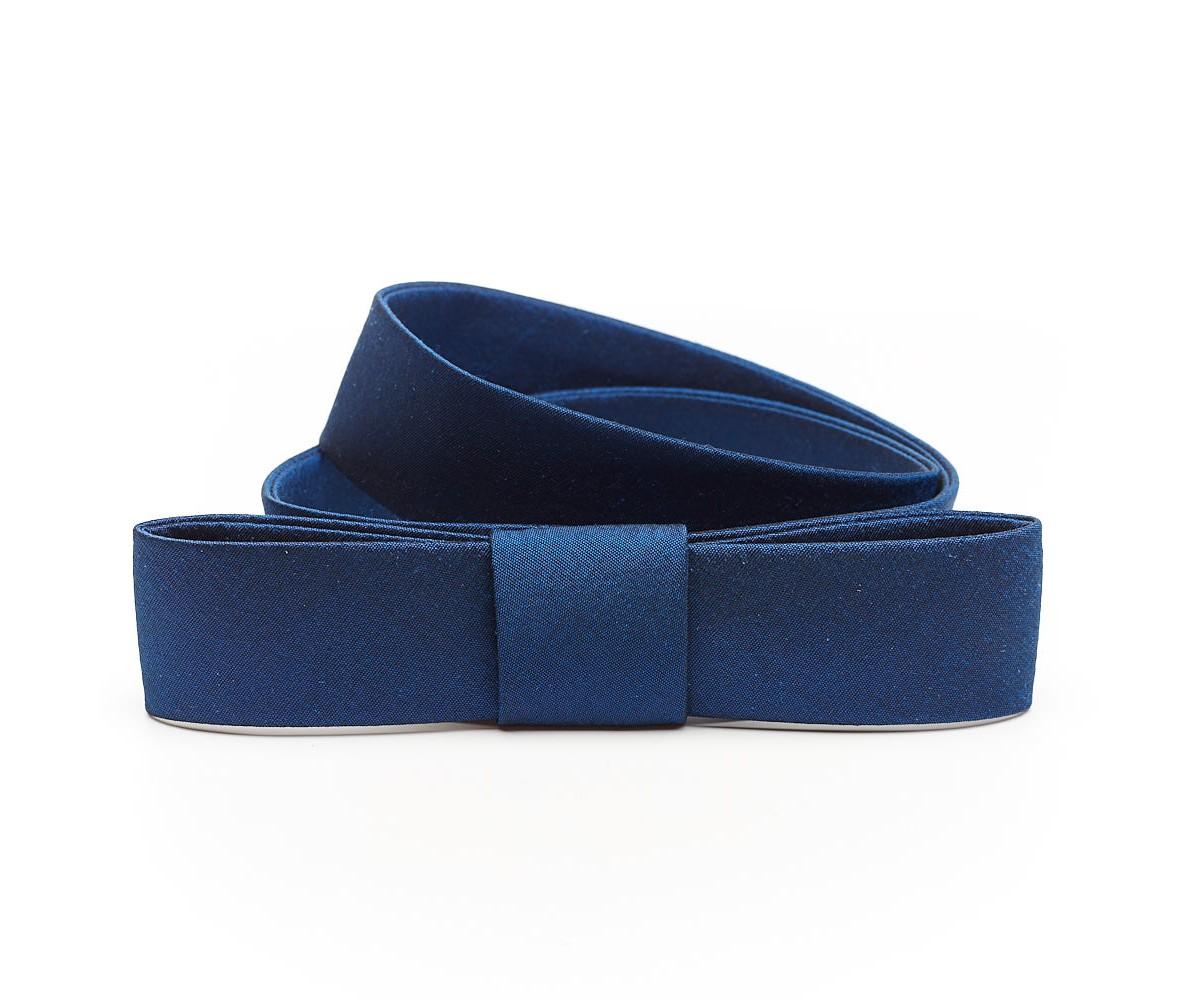 Ремень женский шелковый синий Weill