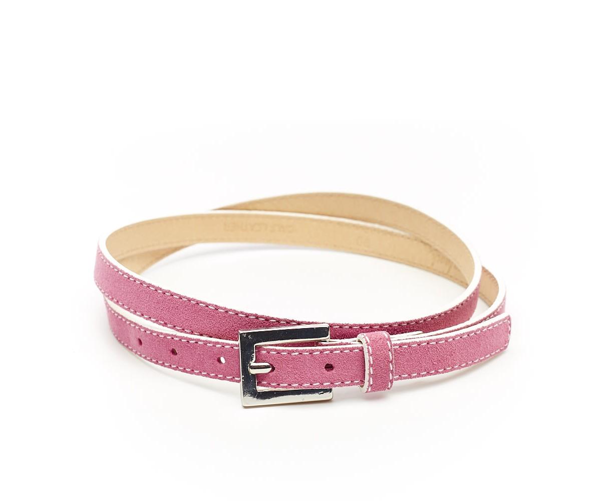Ремень женский розовый кожаный van Laack