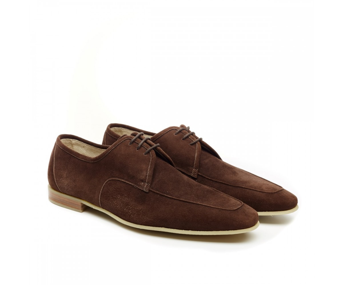 Туфли мужские из нубука Fratelli Borgiolli