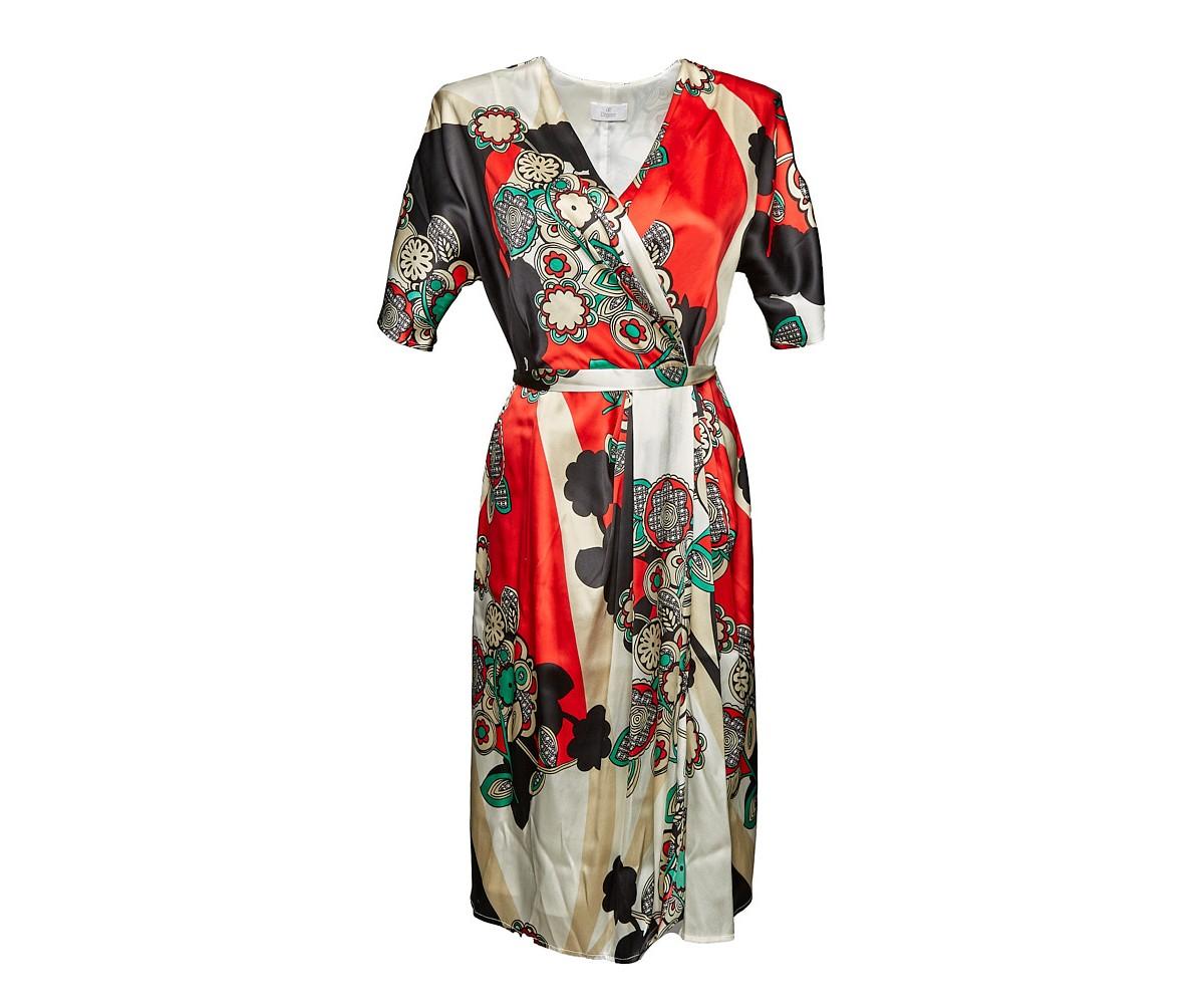 Женское платье с поясом Elegance
