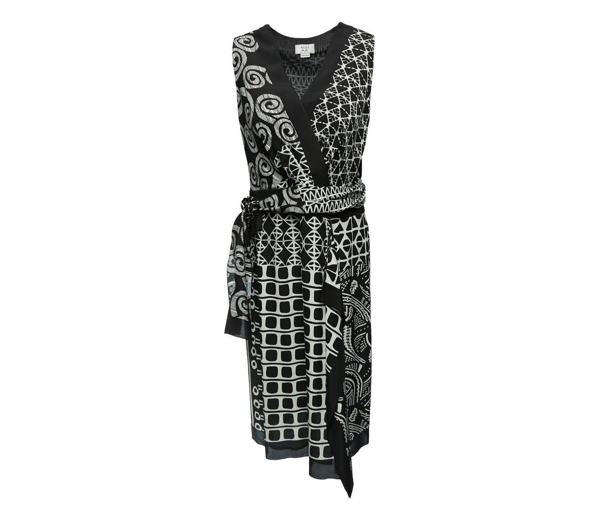 Женское шелковое платье с поясом Weill