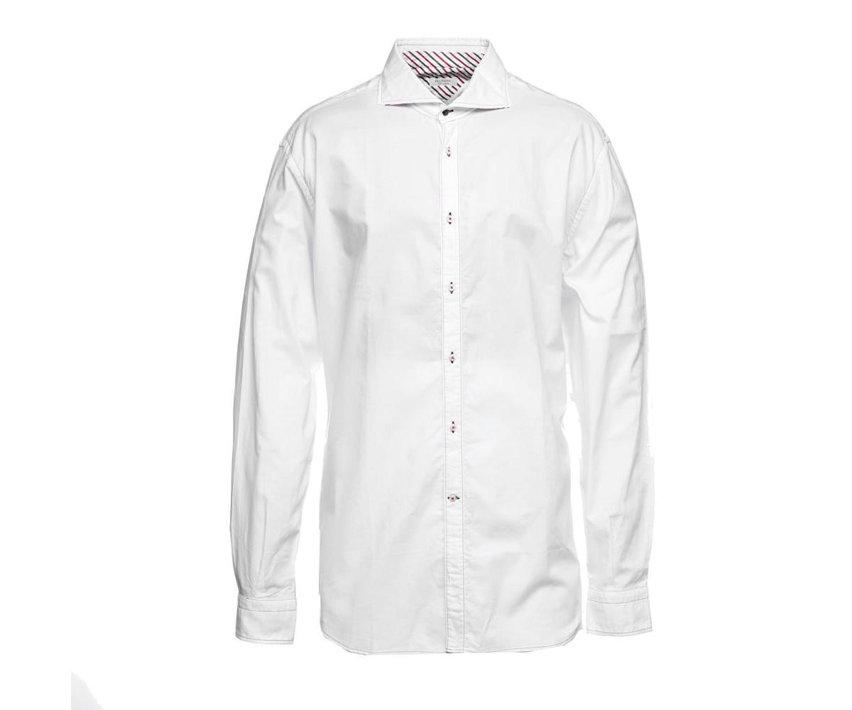 Рубашка белая мужская с длинными рукавами Delsiena