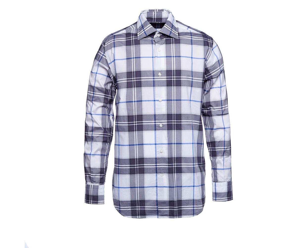 Мужская рубашка в крупную клетку Delsiena