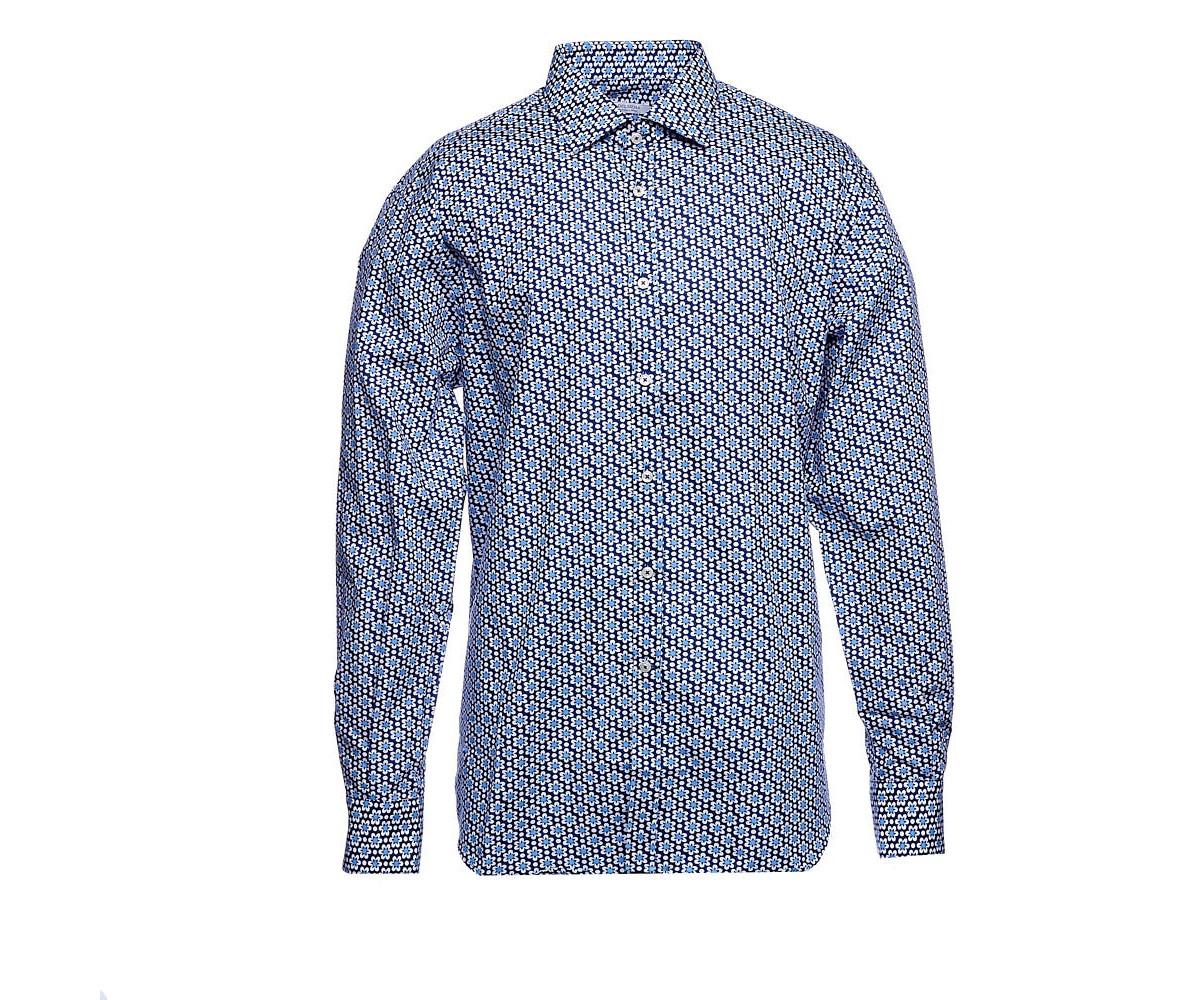 Мужская рубашка с длинным рукавом с принтом, Delsiena