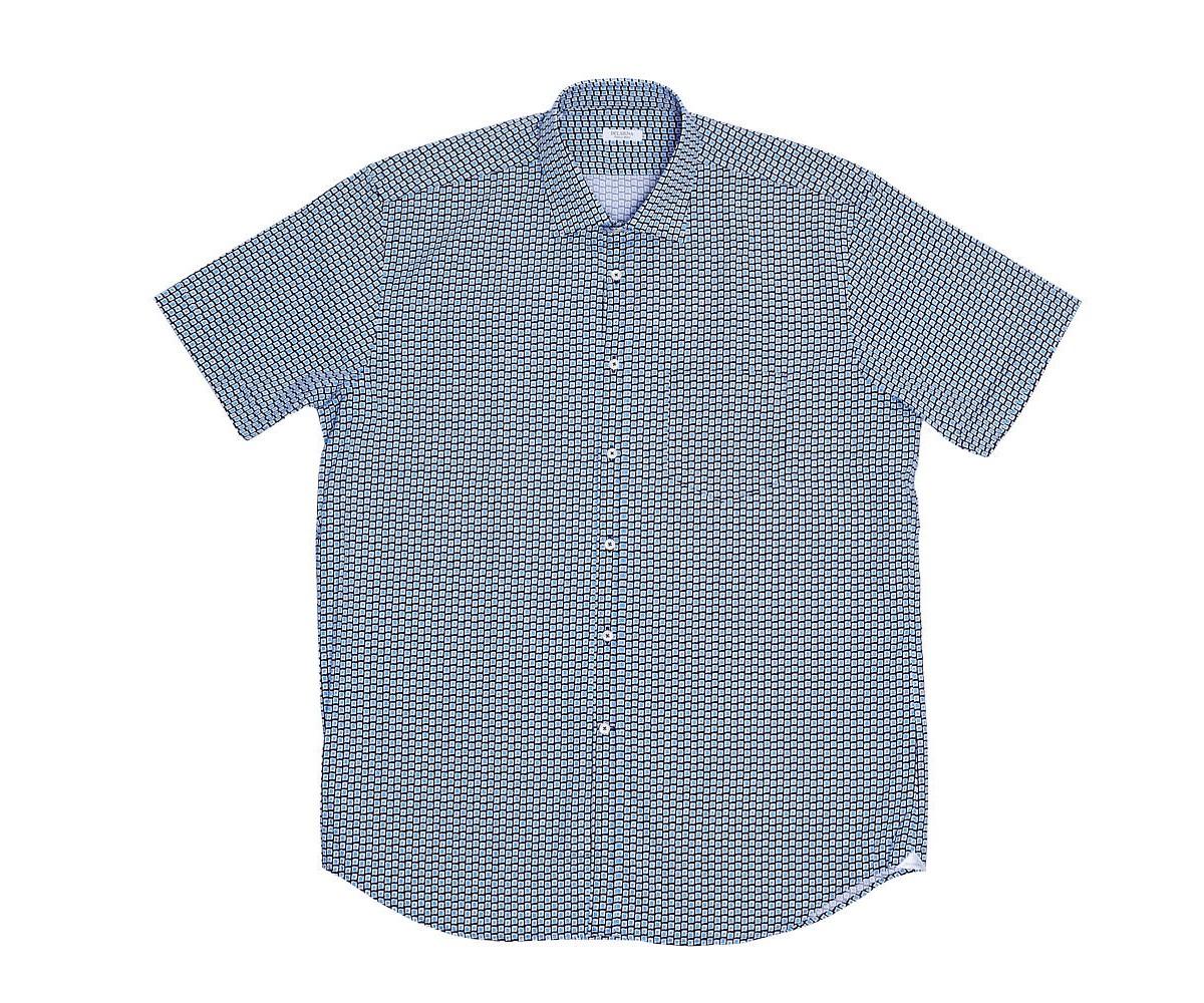 Мужская рубашка с коротким рукавом, принт, Delsiena