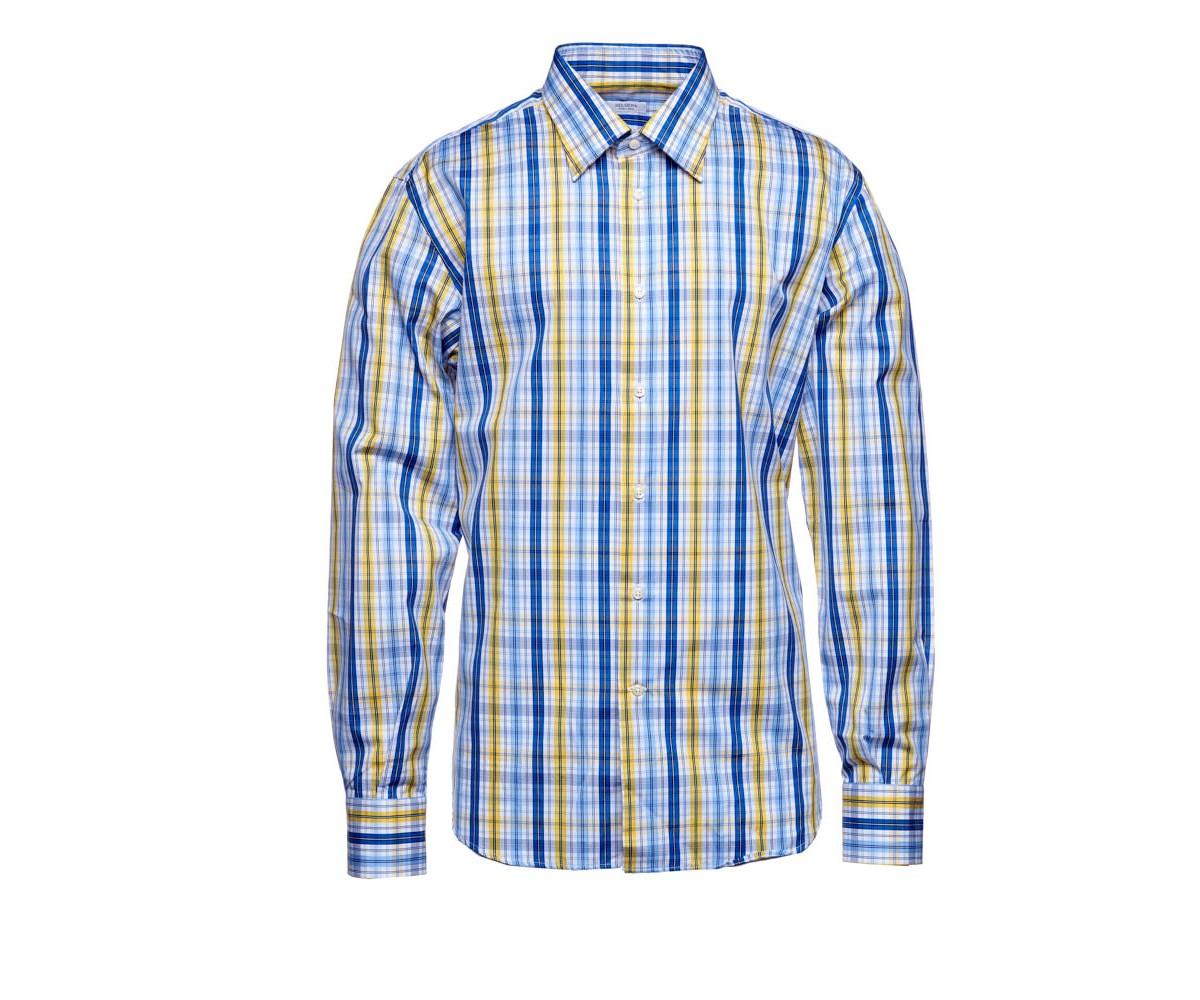 Мужская рубашка разноцветная в клетку Delsiena