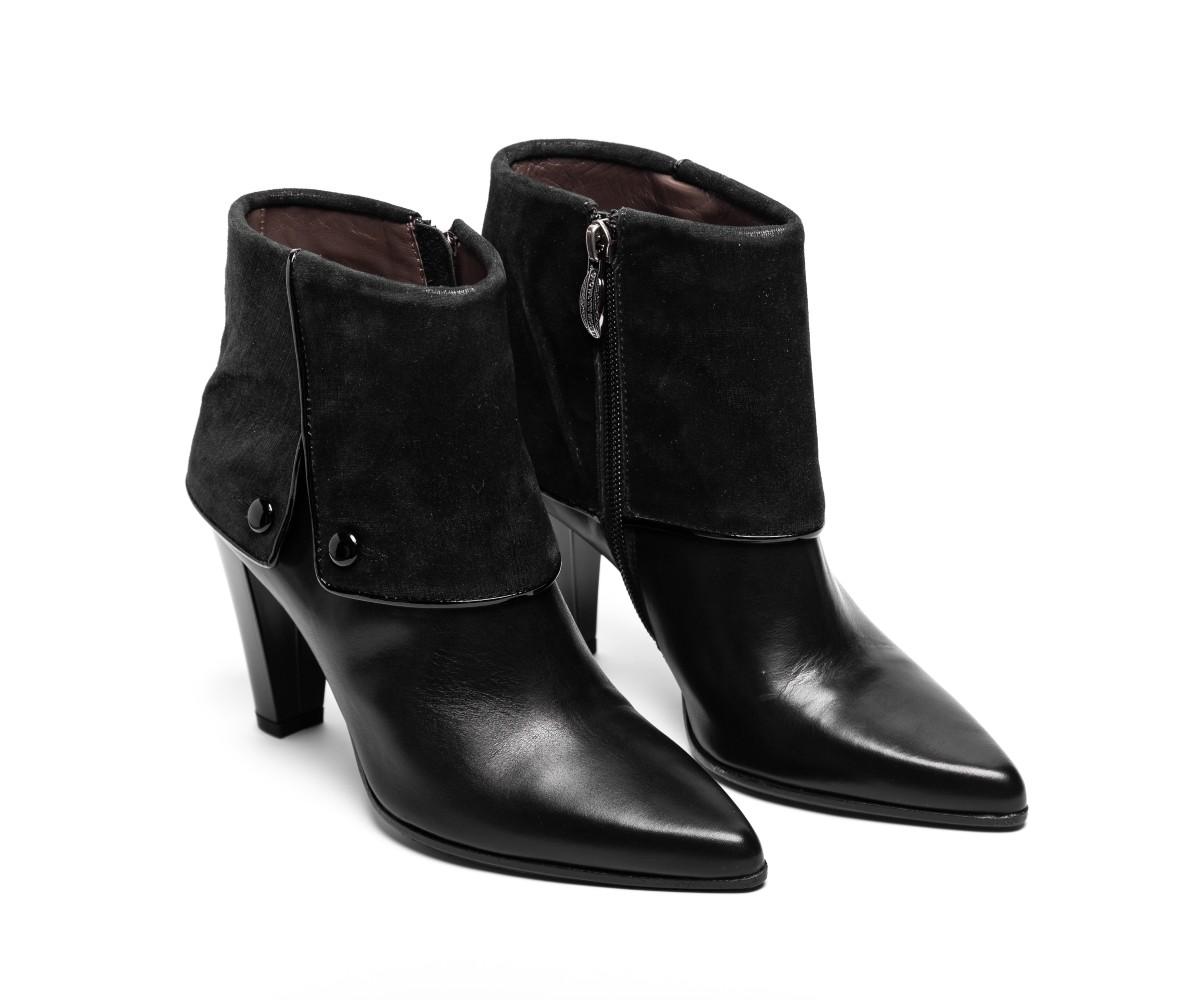 Ботильоны женские кожаные на каблуке Giovanni Guisti